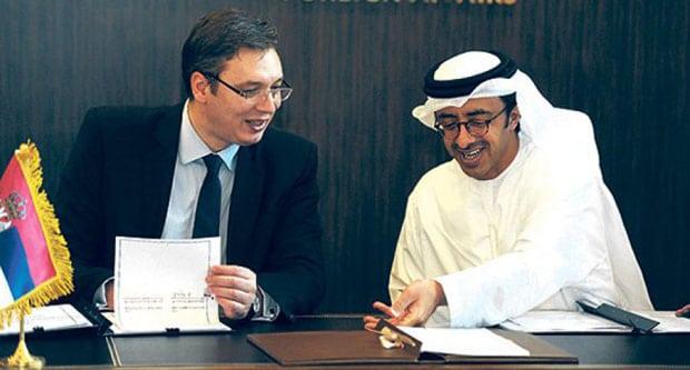 Aleksandar Vučić i Šeik Mohamed bin Zajed al Nahjan, princ – prestolonaslednik emira od Abu Dabija i predsednika Ujedinjenih Arapskih Emirata, u svetu je najviše poznat po trgovini oružjem