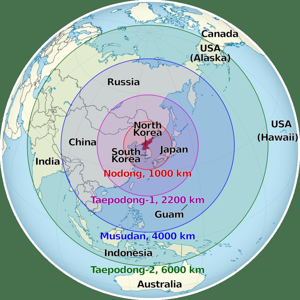 Domet nuklearnih bojevih glava Severne Koreje