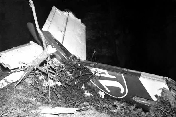 The mangled tail of the DC-9 after it exploded in mid air and landed on a frozen mountainside