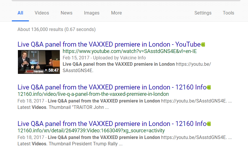 Live Q&A panel from the VAXXED premiere in London – VIDEO