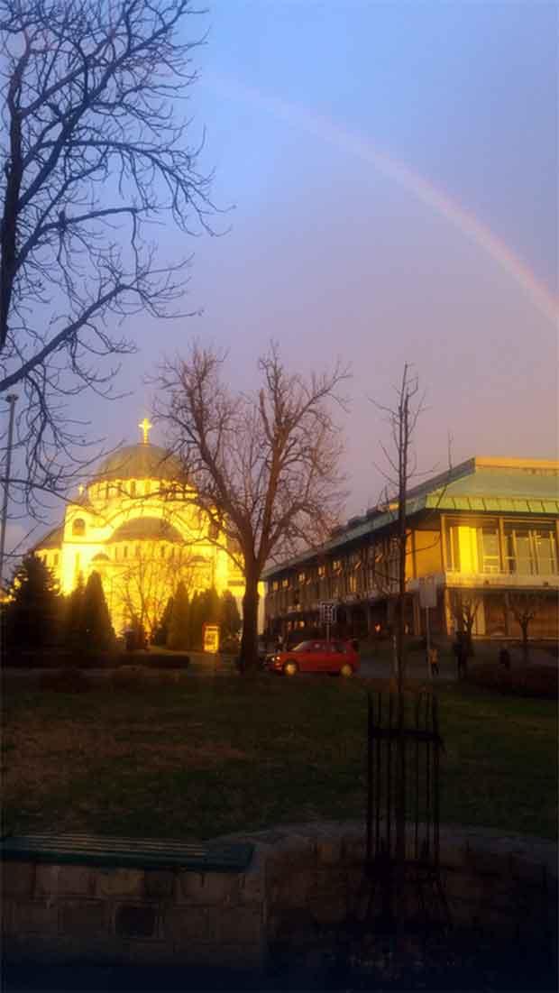 Foto: Branimir Banjanin / Privatna arhiva Šareni luk iznad Hrama Svetog Save