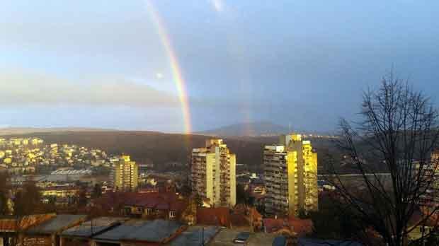 Dvostruka duga se pojavila nad Beogradom