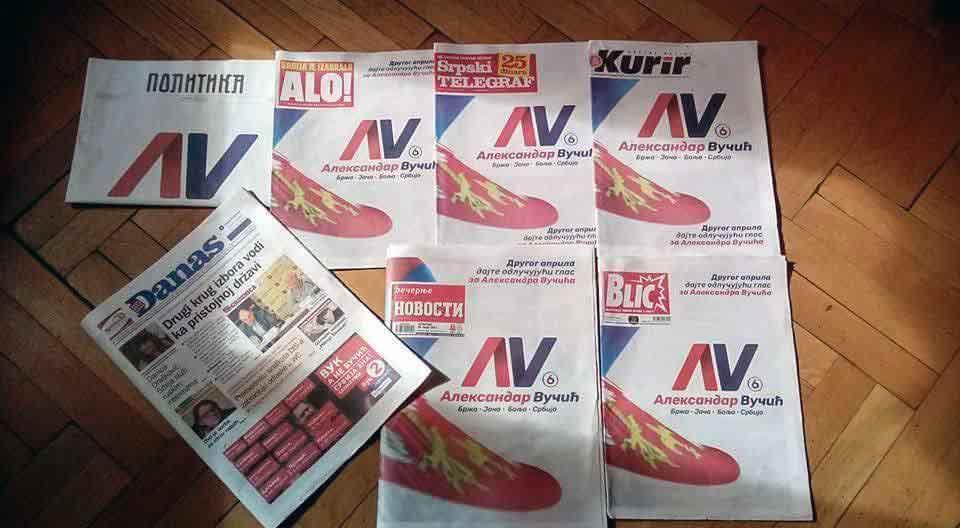 današnja štampa Aleksandar Vučić u svim štampanim medijima