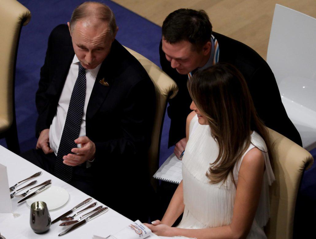 Putin i prelepa Melania Trump