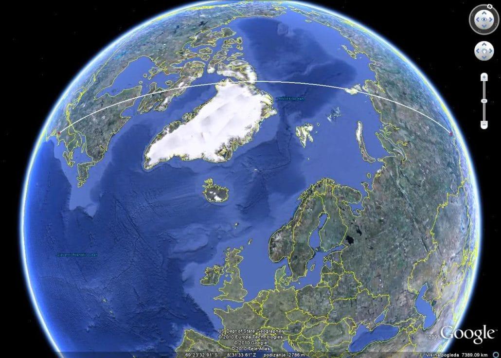 Tunguska - idealna putanja - kraće i brže nije moglo