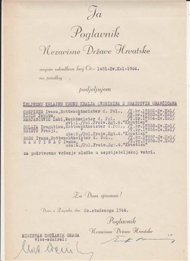 """3. Osim u pismima, Ante Pavelić koristio je 'Za dom spremni' i u službenim proglasima i objavama. Za sve koji pomisle da je ustaški čelnik pozdrav """"Za dom spremni"""" koristio samo u privatne svrhe:"""
