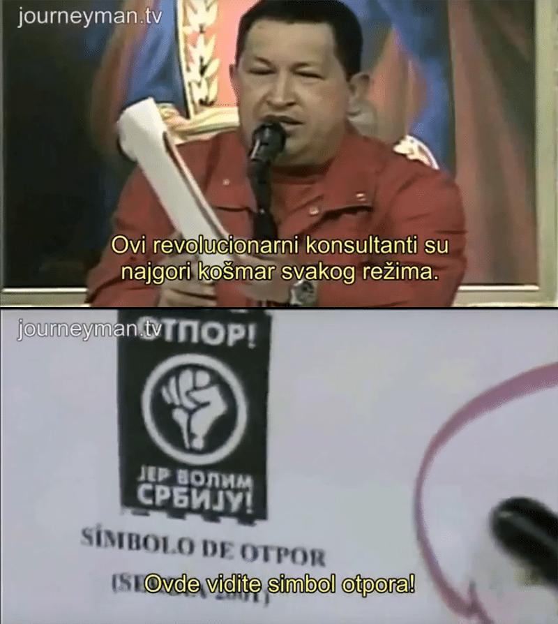 Chavez Venezuela Canvas Serbian OTPOR