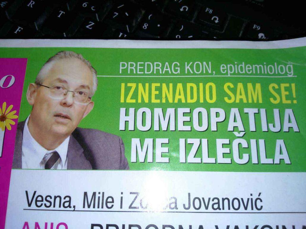 "Predrag Kon epidemiolog: ""Iznenadio sam se! Homeopatija me izlečila!"""