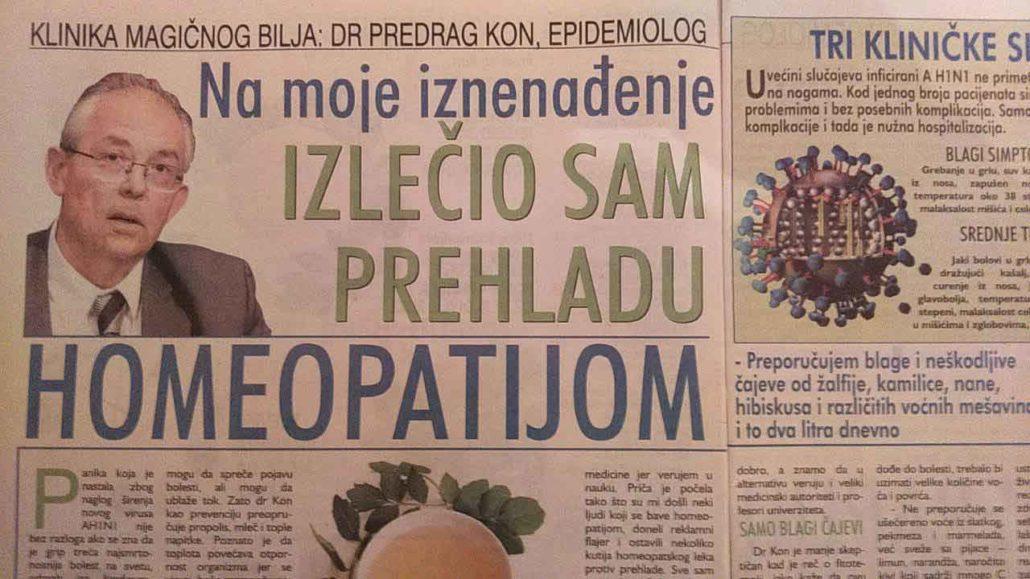 Dr Predrag Kon epidemiolog - čovek kome se može verovati i koji drži svoju reč još od Svinjskog gripa na ovamo - razvojni put od homeopatije do ...