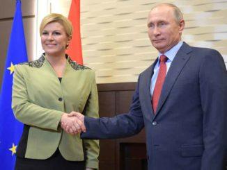 Kolinda Grabar Kitarović i Vladimir Vladimirovič Putin