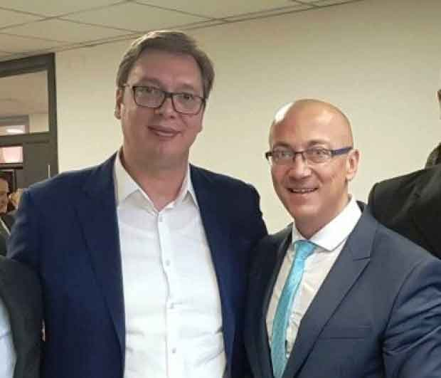 Aleksandar Vučić i Goran Rakić na proslavi slave SNS Sveta Petka