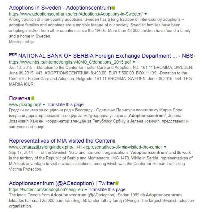 Usvajanje dece iz Srbije i Crne Gore – Adoptionscentrum NGO – Švedska nevladina organizacija