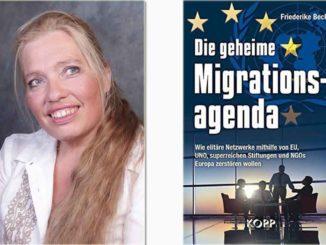 """Za """"Geopolitiku"""" govori nemačka novinarka Friderik Bek, autorka bestselera """"Tajna migraciona agenda"""". Pred našim očima, kroz migraciju, pokrenuta je transformacija društva, od strane vodećih finansijskih elita planete koje su opremljene milijardama novčanica. Naravno da odluke tzv. """"globalne vlade"""" nikada nisu bile demokratske i legitimne."""