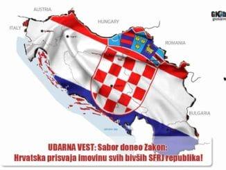 UDARNA VEST: NEVIĐENA OTIMAČINA ZVANIČNOG ZAGREBA! Sabor doneo Zakon: Hrvatska prisvaja imovinu svih bivših SFRJ republika!