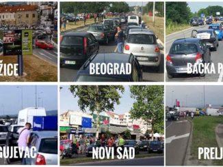 BLOKADA SRBIJE: Blokade saobraćaja u Beogradu, Novom Sadu, Pančevu, Šapcu, Prokuplju, Užicu, Nišu... (VIDEO); NAJSKUPLJE GORIVO NA NAJNIŽI STANDARD: Blokada Srbije - Blokade saobraćaja u Beogradu, Novom Sadu, Pančevu, Šapcu, Prokuplju, Užicu, Nišu... (VIDEO)