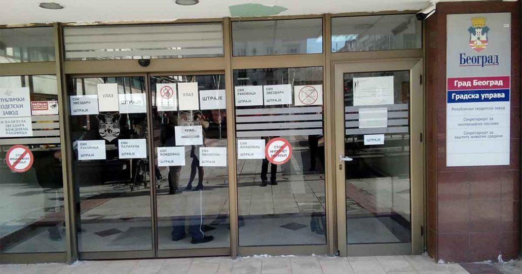 Republički geodetski zavod - Štrajk zaposlenih u katastru u celoj Srbiji