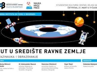 PUT U SREDIŠTE RAVNE ZEMLJE - TRIBINA - Institut za fiziku u Beogradu | Tribina će se održati 21.03.2019 u 19:00, SKC - Beograd