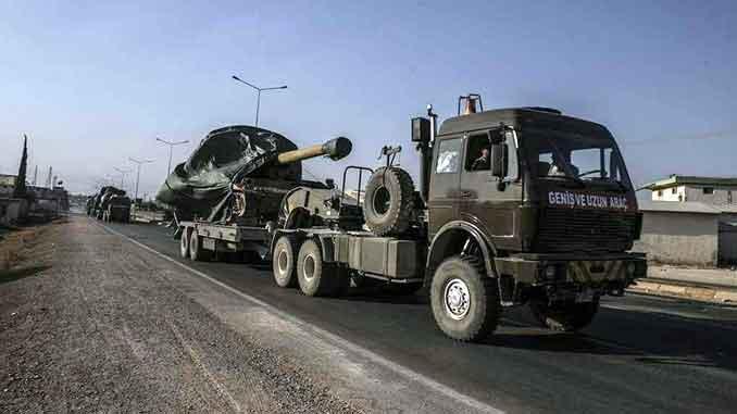 Turski vojni konvoji dužine nekoliko kilometara ulaze u Idlib Sirija - VIDEO