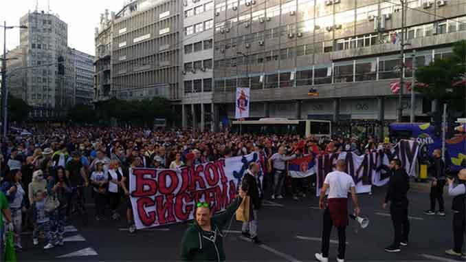 Veliki protest u Beogradu na koji su mediji ostali gluvi - Autocenzura iz sve snage - VIDEO